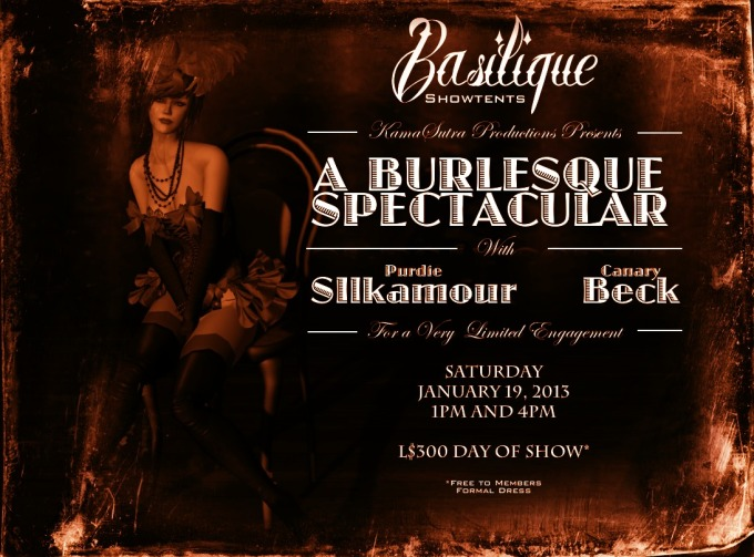 Antique Version of the Burlesque Spectacular Poster