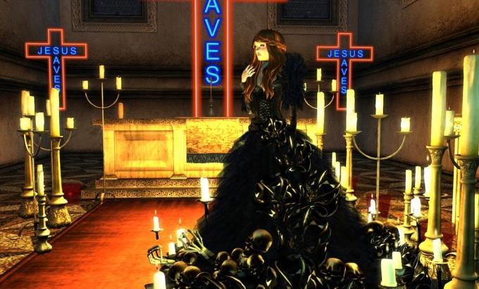 Juliet inside the Chapel