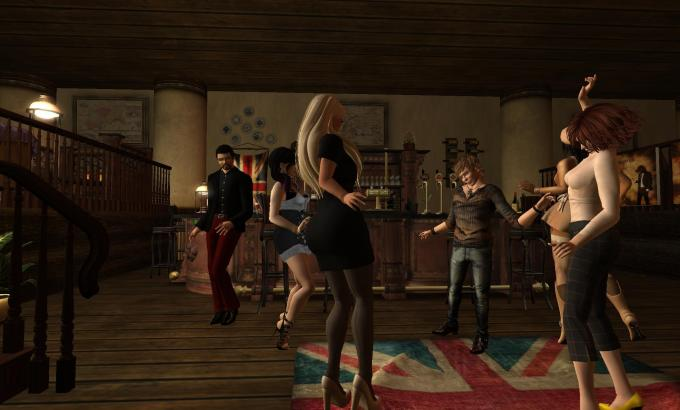 Dancing with friends last night at the Nag's Head (Creamy's Spot)