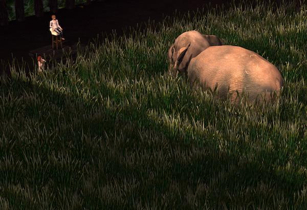 An Elephant Approaches blogsized