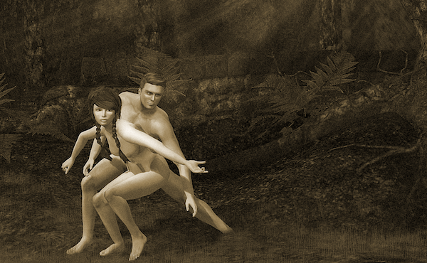 An image of Adam and Eve by Caitlin Tobias