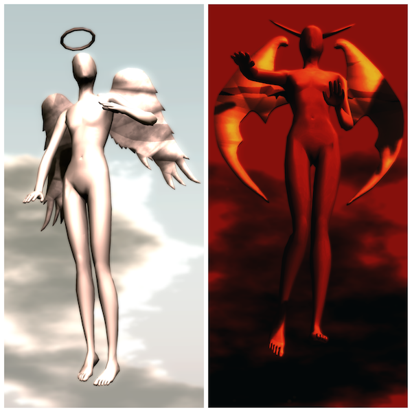 Angels and Demons, by Sian Pearl, for Paradise Lost in Second Life