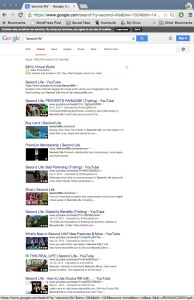 Google Videos Search Second Life