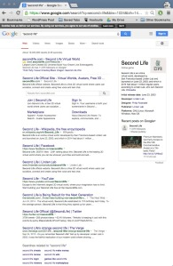Google Web Search Second Life