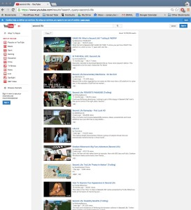 Youtube Search Second Life