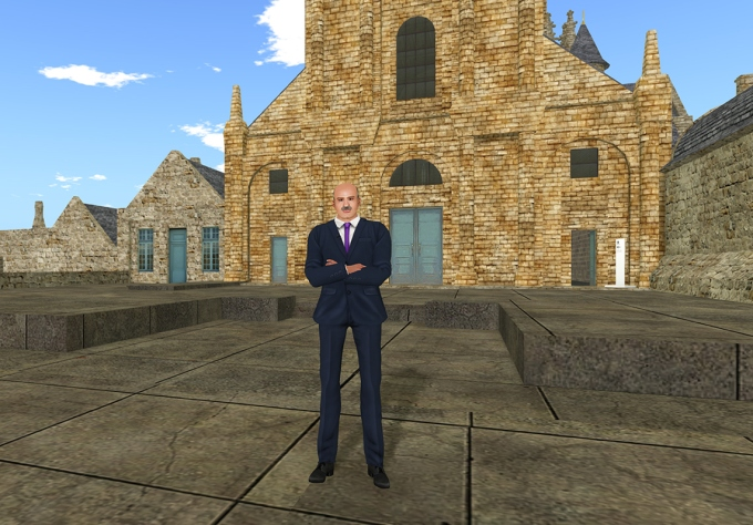 Dr Phil in the 'all-new and ultra-modern' Second Life